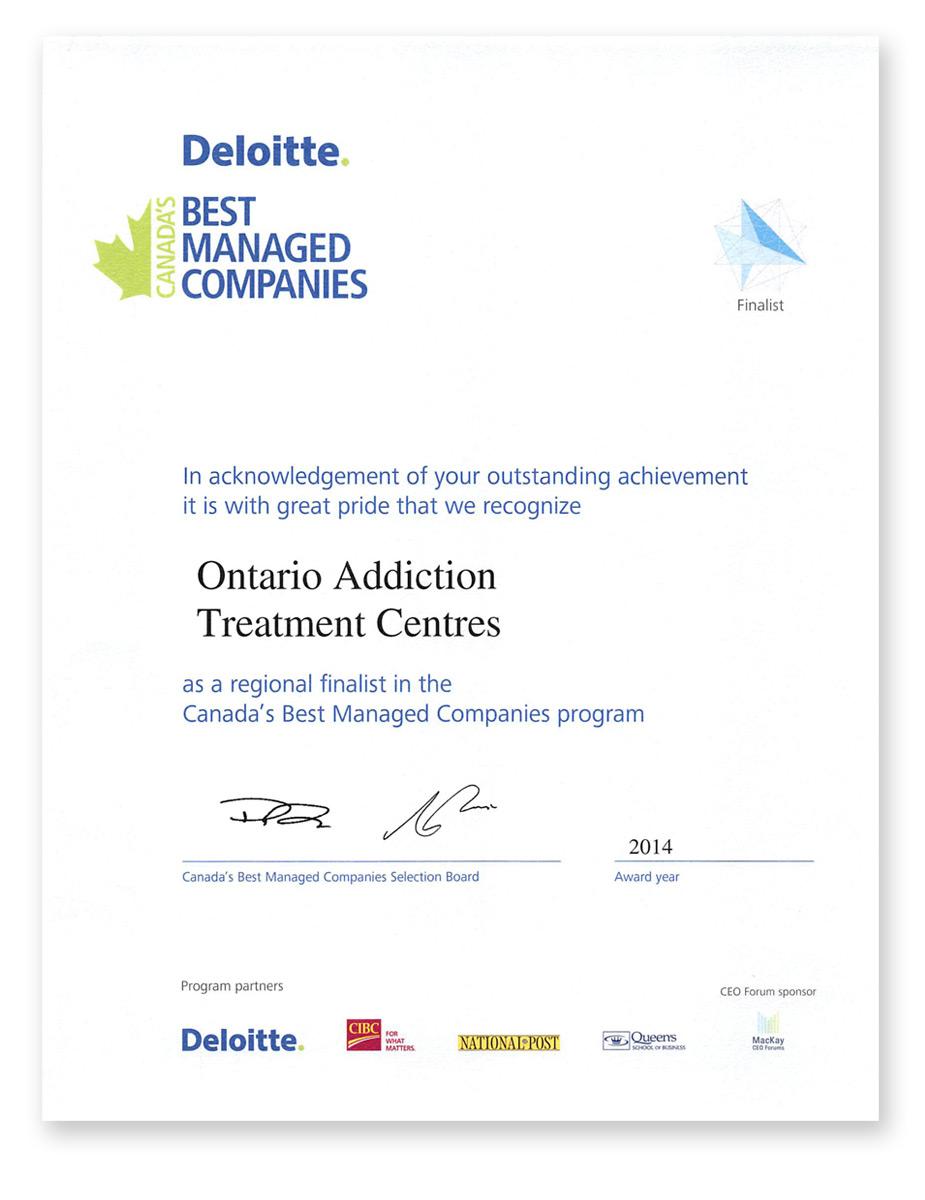 ... Managed Companies program - OATC - Ontario Addiction Treatment Centres