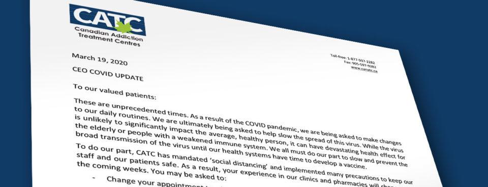 CEO COVID-19 Update